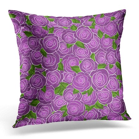 ARHOME Antique Roses with Flowers in Victorian Style Bouquet of Retro Plants Floral Abstract Violet Colors Pillow Case Pillow Cover 20x20 inch