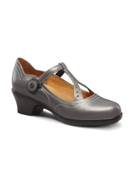 Dr. Comfort Women's Carmen Diabetic Heeled Dress Shoes Grey