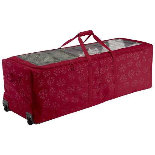 Classic Accessories Seasons Holiday Tree Rolling Storage Duffel - Heavy-Duty Holiday Storage
