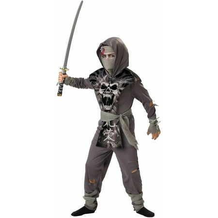 Zombie Ninja Boys' Child Halloween Costume - Zombie Farmer Halloween Costume