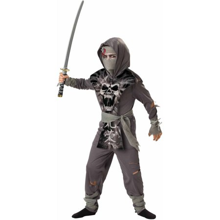 Zombie Ninja Boys' Child Halloween Costume - Zombie Costume For Men