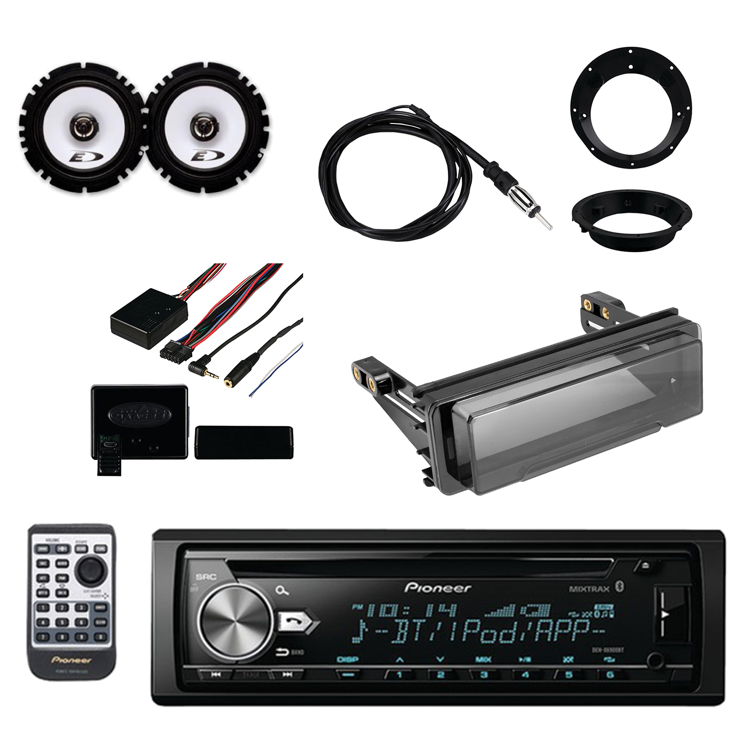Pioneer Vehicle CD Digital Music Player Receivers with Bl...
