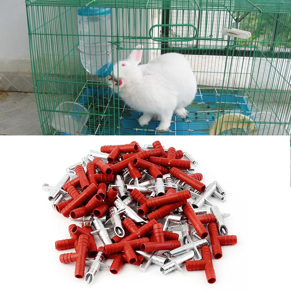30pcs Automatic Rabbit Nipple Water Drinker Waterer Poultry Feeder Bunny Rodent Mouse Farm Animal Pet Supplies