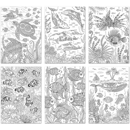 Living In Color Art Therapy Coloring Pages 6 Sheets/Pkg-Ocean ...