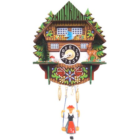 black forest mountain chalet cuckoo clock walmart com