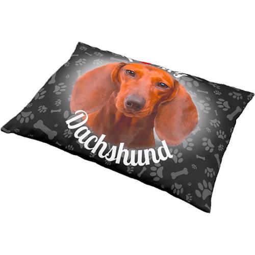 iLeesh I Love My Dachshund Brown Pet Bed BLACK