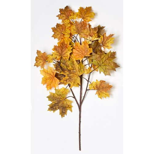 The Holiday Aisle Fall Canadian Maple Spray Stem with 38 Leaves (Set of 3)