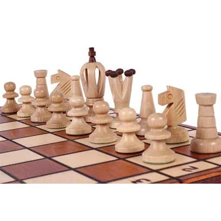 Classic Chess Set, Travel Size Wood Chess Pieces, Chess Board & Storage