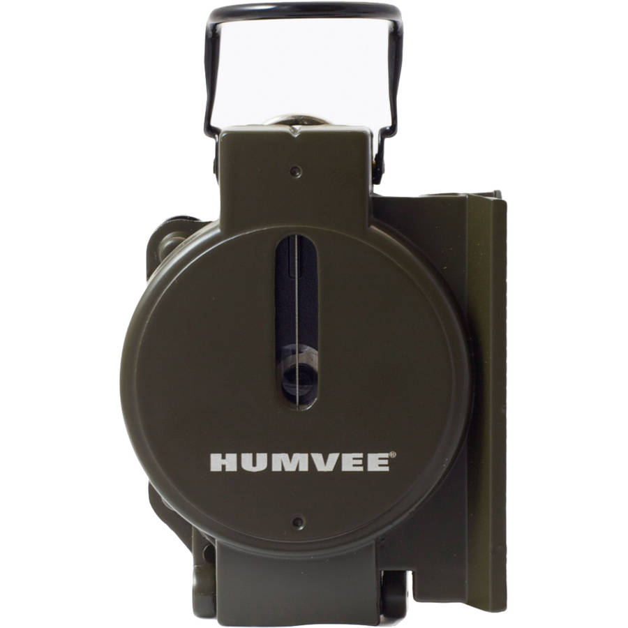 Military Style Compass with Olive Drab Metal Case, Humvee by Humvee
