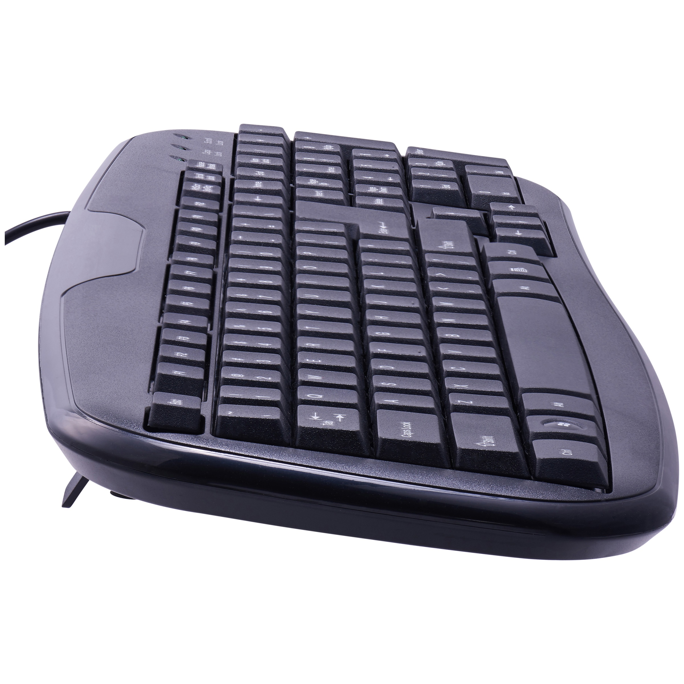 Onn Usb Connected Soft Touch Wired Keyboard Black I8 Mini Wearless Pnp Windows