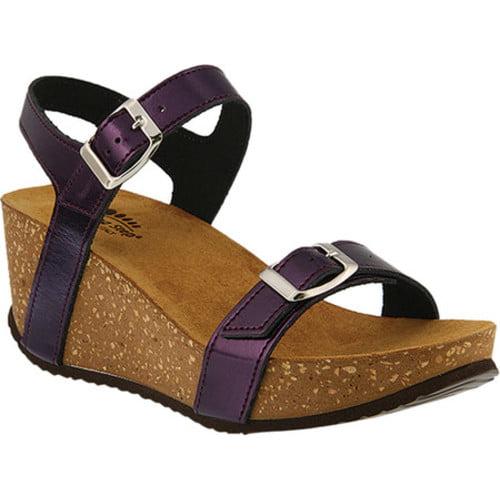 Spring Step Shiri Quarter Strap Sandal(Women's) -Pewter Leather