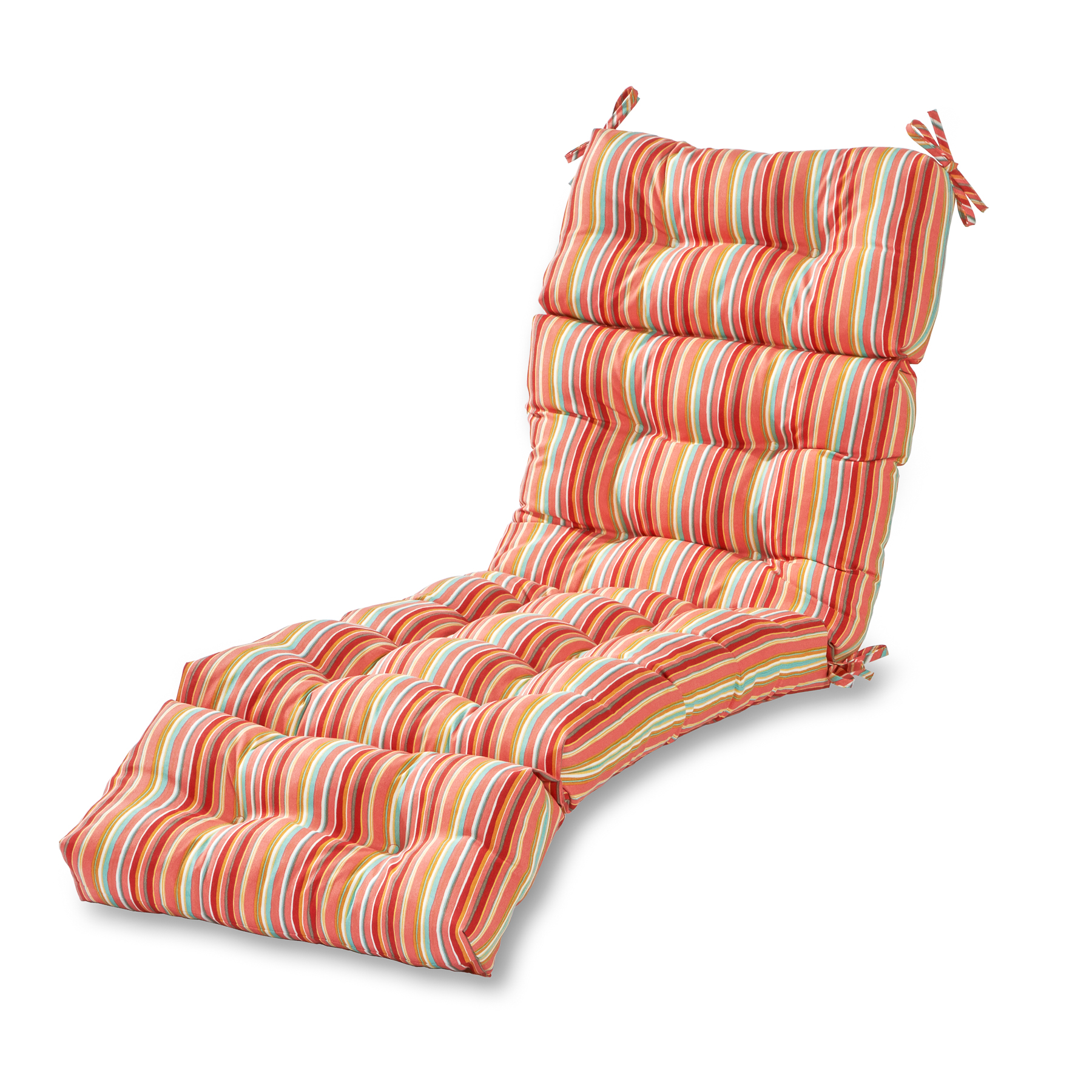 Coastal Stripe 72 x 22 in. Outdoor Chaise Lounge Cushion