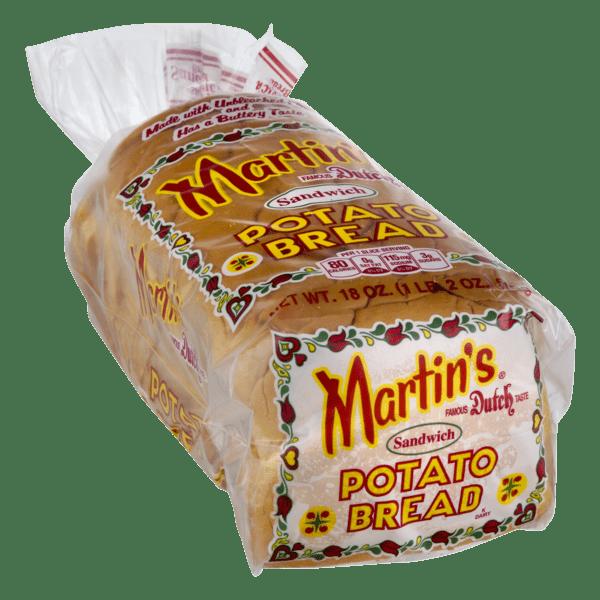 Martin's Sandwich Potato Bread- 16 slice 18 oz (4 Bags) by Martin's