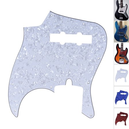 4Ply PVC JB Style Bass Pickguard Pick Guard Scratch Plate 10 Hole for American/Mexico Made Standard Jazz Bass White Pearl American Standard 10 Hole
