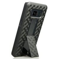 Galaxy S8 Active Case, Nakedcellphone Black Kickstand Slim Case Hard Cover for Samsung Galaxy S8 Active (SM-G892A, SM-G892U)