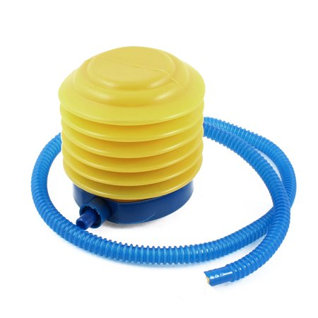 Unique Bargains Plastic Hand Foot Pump Inflator Blue Yellow Red for