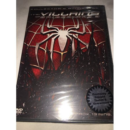 THE VILLAINS OF SPIDERMAN 3 DVD 13 MINUTES BONUS DISC SPIDEY FAN COLLECTORS -