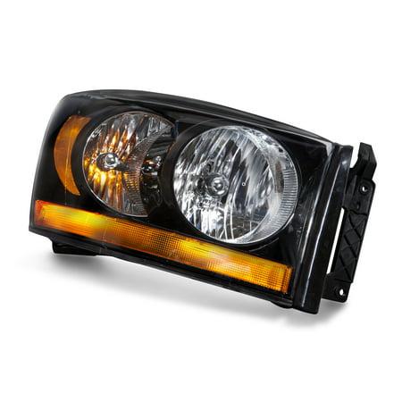 2006 Dodge Ram 1500/2500/3500 New Passenger Right Side Headlight Black Housing Headlamp Assembly CH2519115