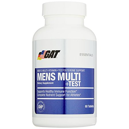 Gat Mens Multi   Test  Premium Multivitamin And Complete Testosterone Boosting Support With Tribulus Terristis  60 Tablets 30 Servings