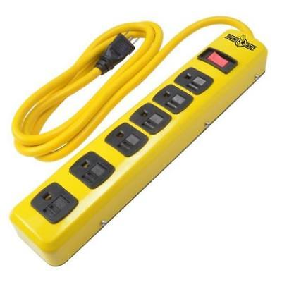 Woods Yellow Jacket Metal Power Strip with 6-Foot Cord