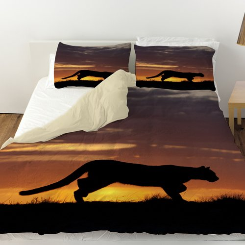 Manual Woodworkers & Weavers Cougar Silhouette Duvet Cover