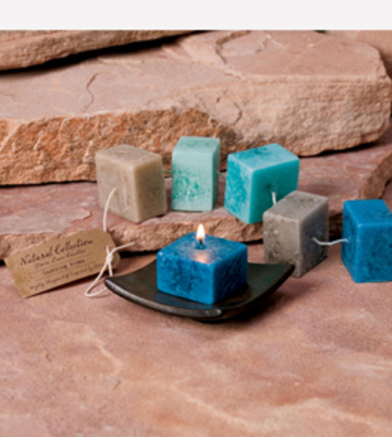 """Pack of 6 """"Soothing"""" Aromatherapy Scented Rope Candles"""
