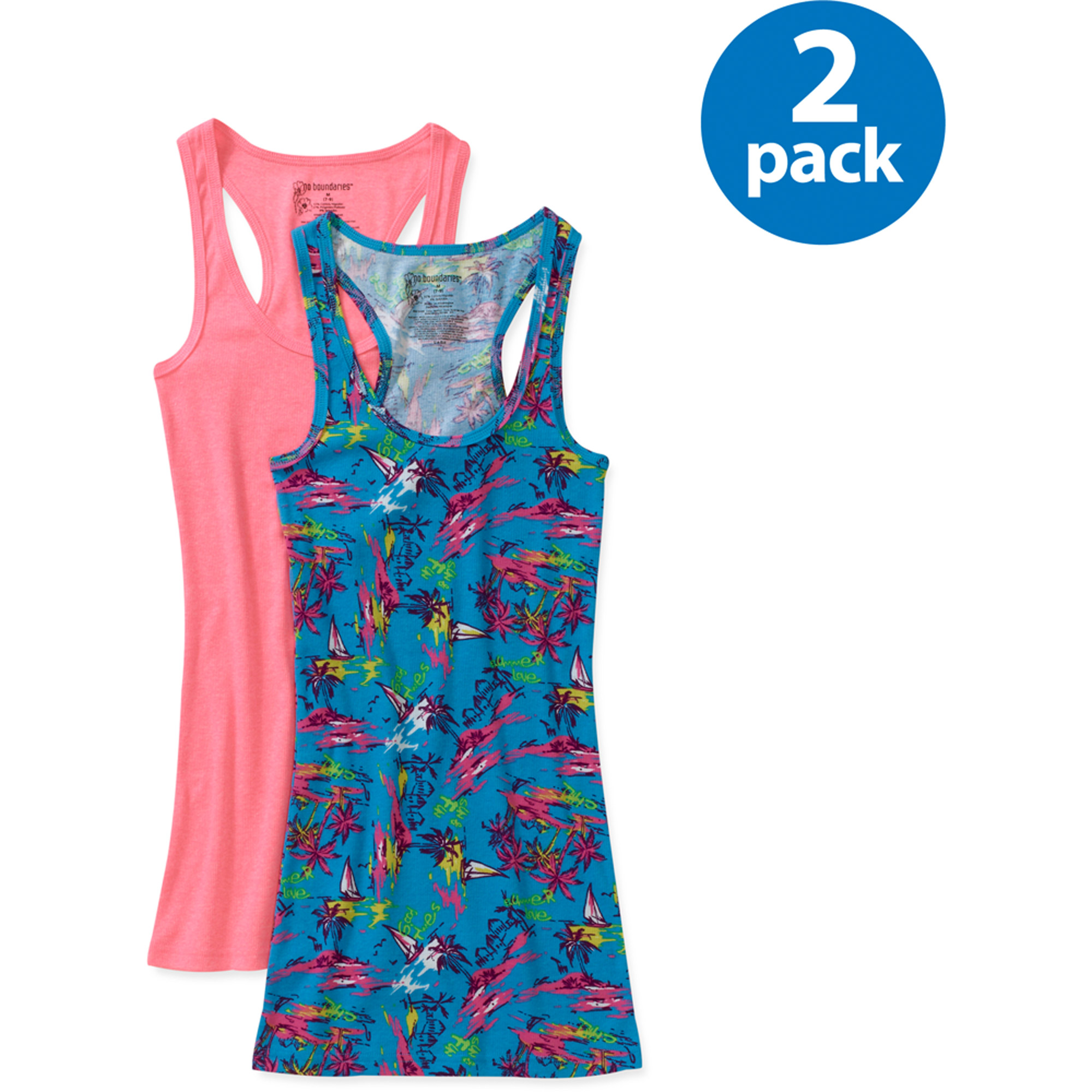 Juniors' Plus Ribbed Tank 2-Pack