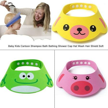 Weiches Baby Kinder Kinder Shampoo Bad Bad Duschkappe Hut Waschen Haar Schild (Herr Gehirn Waschen)