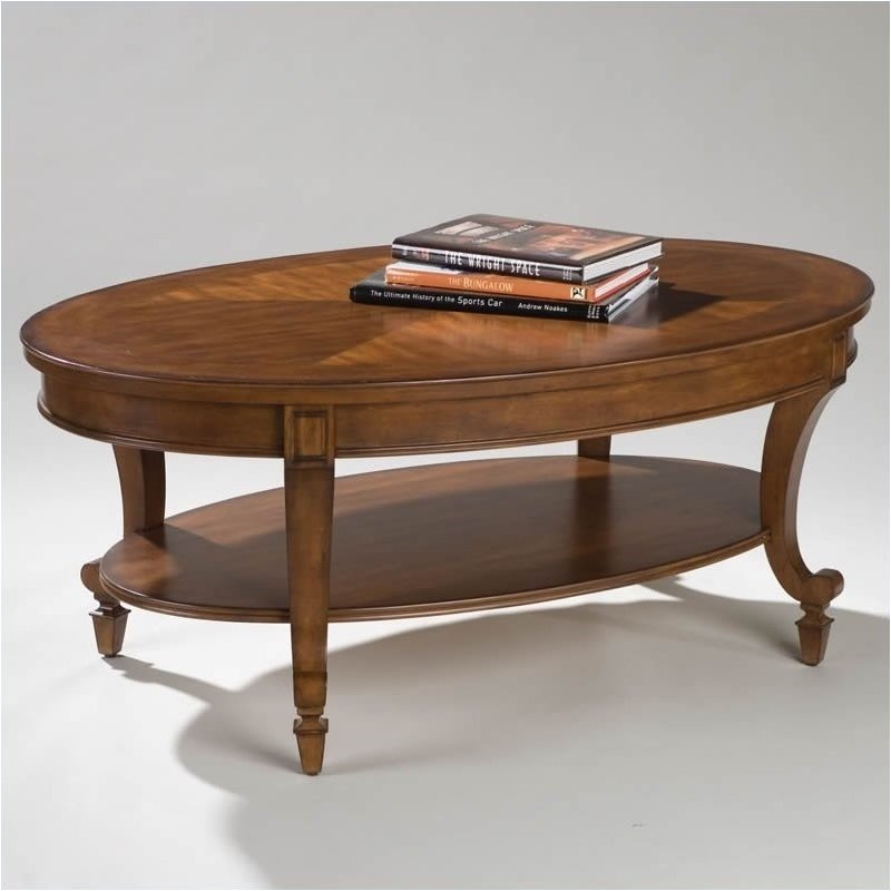 Beaumont Lane Oval Coffee Table in Cinnamon Brown - image 1 de 2