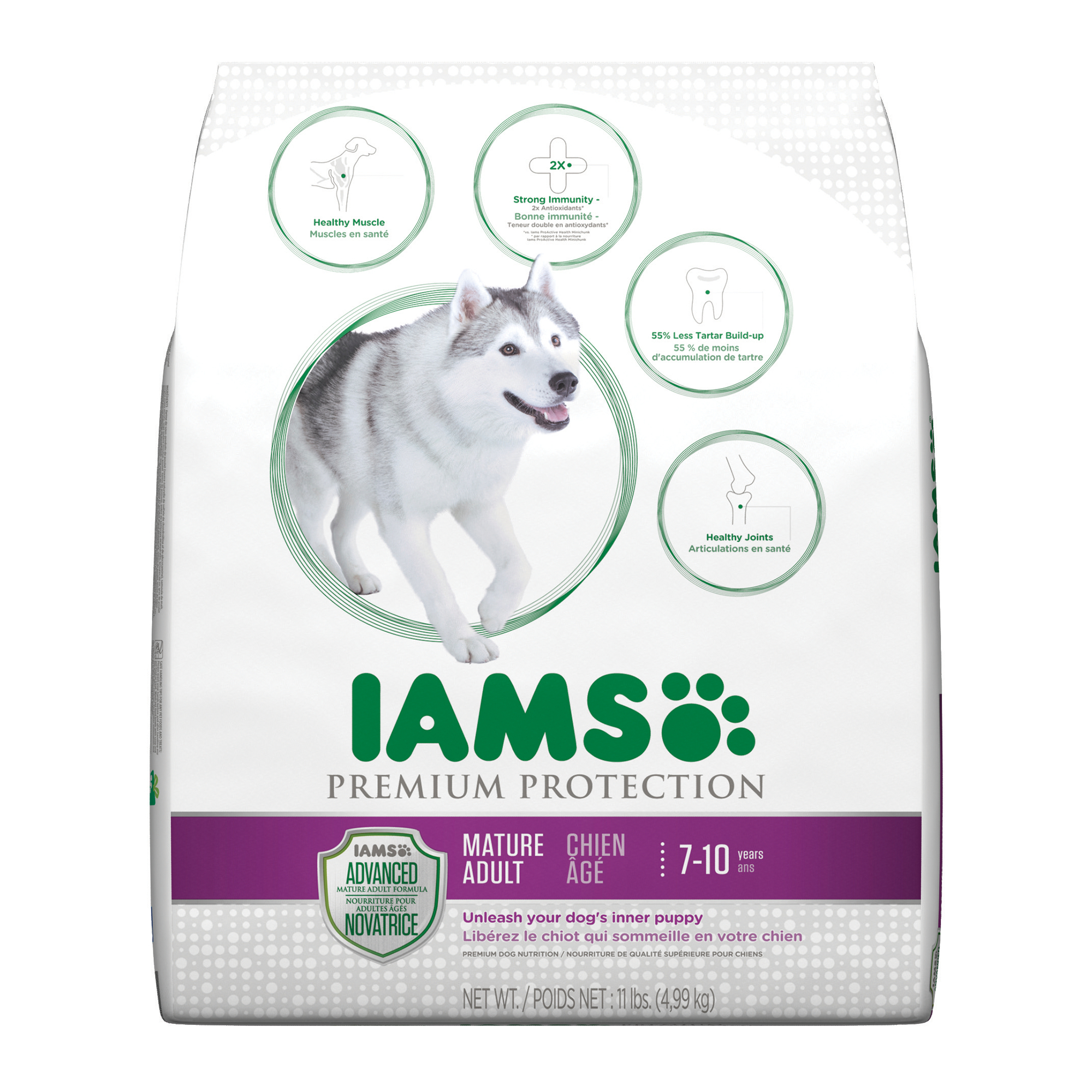 IAMS Premium Protection Mature Adult Dry Dog Food 11 Pounds