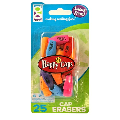 Happy Caps Erasers by Raymond Geddes & Company
