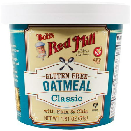 (3 Pack) Bob's Red Mill Gluten Free Oatmeal Classic with Flax & Chia, 1.81 OZ