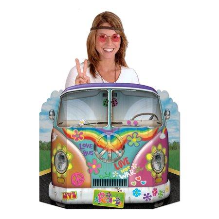 Pack of 6 Hippie Bus Photo Props 37'' x 25'' (Hippie Photo)