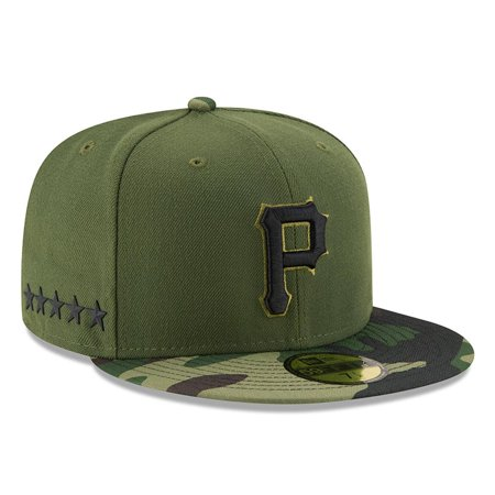 Pittsburgh Pirates New Era 2017 Memorial Day 59FIFTY Fitted Hat - Green - International Pirate Day 2017
