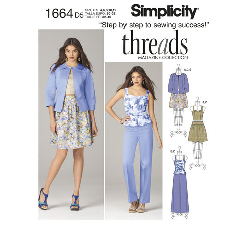 Simplicity Misses' Top, Skirt Pants and Jacket (4, 6, 8, 10, 12)