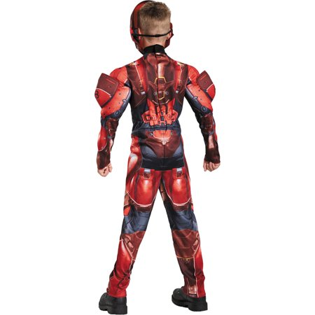 Red Spartan Muscle Child Halloween Costume