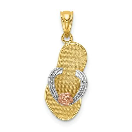 14k Tri-color Gold Sandal Pendant 14k Gold Sandal Pendant