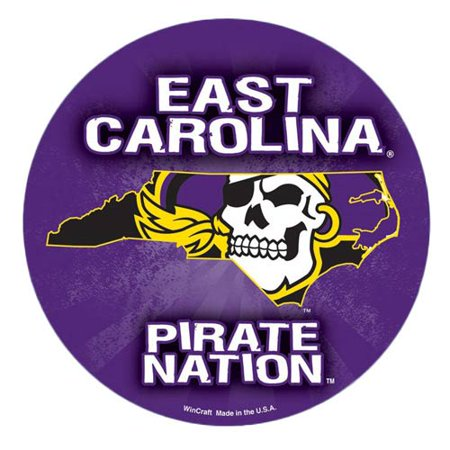 "ECU Pirates WinCraft 5"" Die-Cut Car Magnet - No Size"