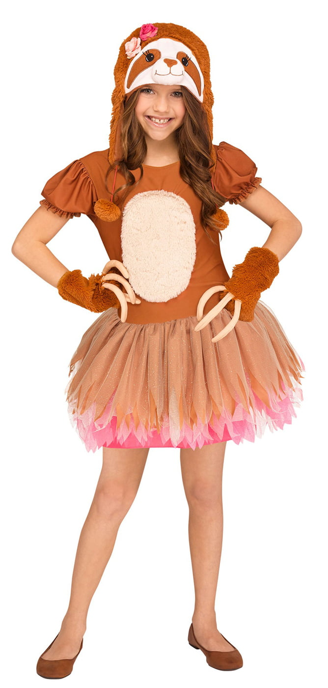 Sassy Sloth Girls Child Cute Brown Animal Halloween Costume by