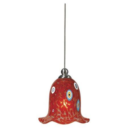 Cal Lighting Up 973 6 1 Light Uni Pack Mini Pendant With Red Shade