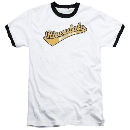 Archie Comics Riverdale High School Adult Ringer T-Shirt Tee