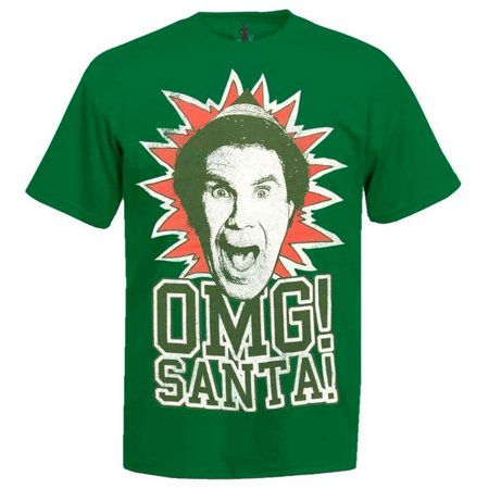 REX OMG Santa Elf Movie Graphic Tee T-Shirt Adult Christmas Holiday REX-OMGSANTA - T Rex Motorcycle For Sale Cheap
