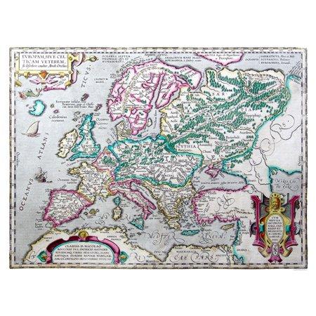 International Map Ancient Europe 1595 Ortelius 30 18 X 23