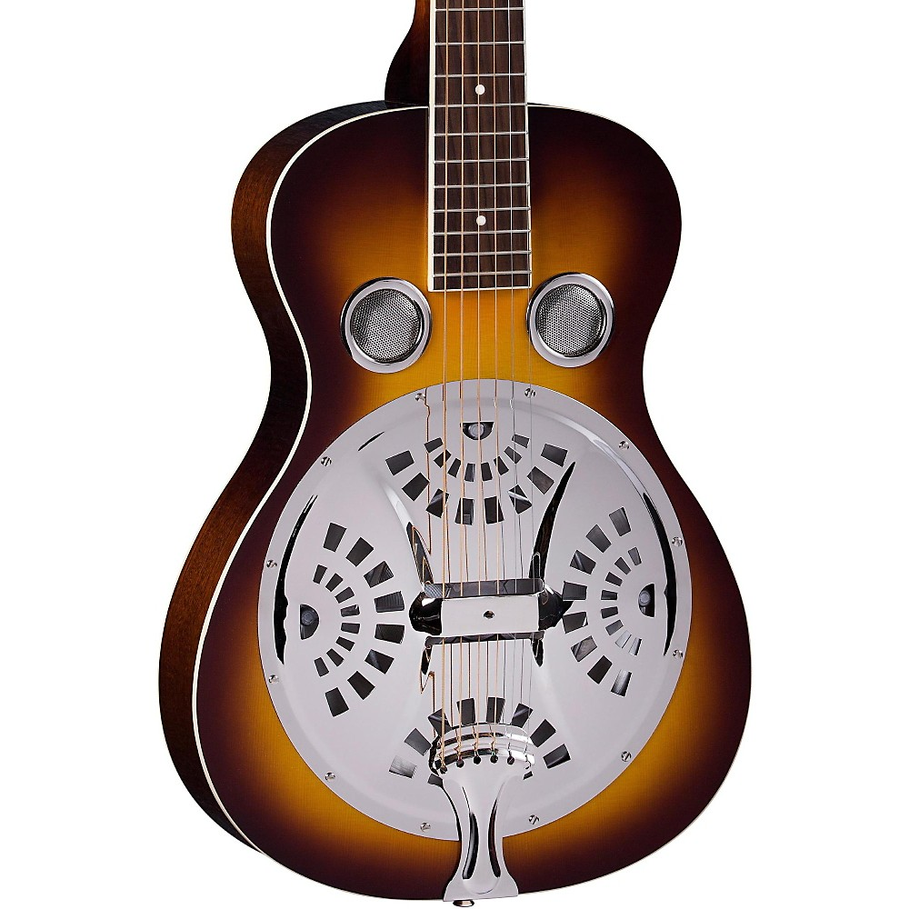 Regal RD-40 Resonator Natural Mahogany Square Neck by
