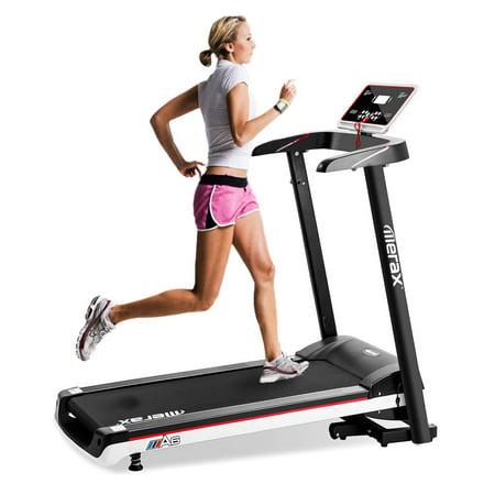 JUMPER Portable Folding Electric Treadmill Home Gym Fitness Motorized Treadmill Running Machine, Black