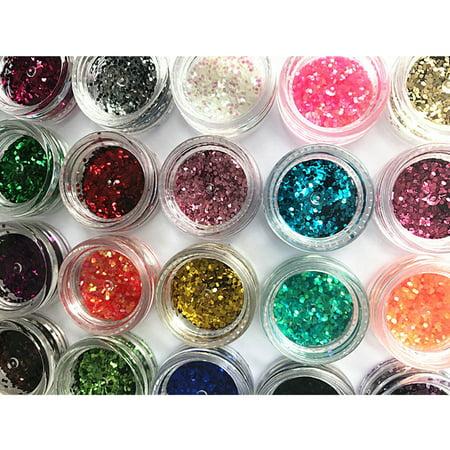 24 Colors/Set Nail Art Decoration Glitter Sequins Colorful Gorgeous Powder DIY Nails Accessories