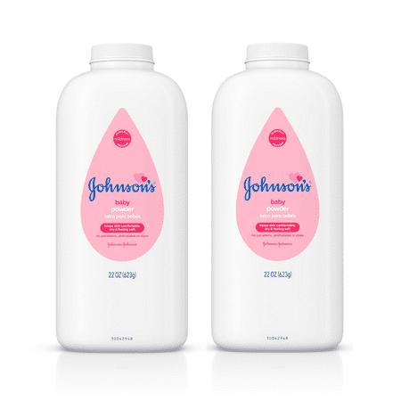 (2 pack) Johnson's Baby Powder, Hypoallergenic, 22 oz - Baby Powder On Face Halloween