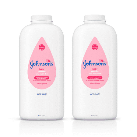 (2 pack) Johnson's Baby Powder, Hypoallergenic, 22 oz