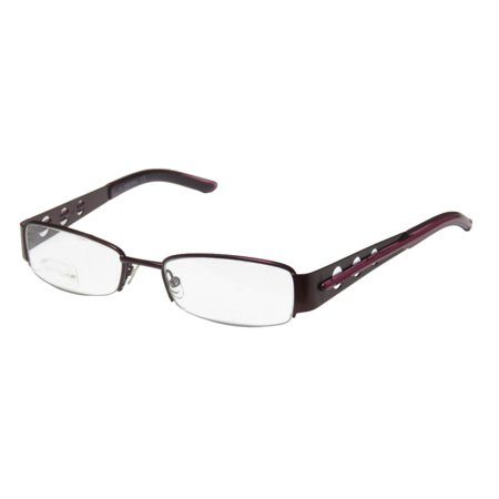 Diesel Half Frame Glasses : New Diesel 0085 Womens/Ladies Designer Half-Rim Purple ...