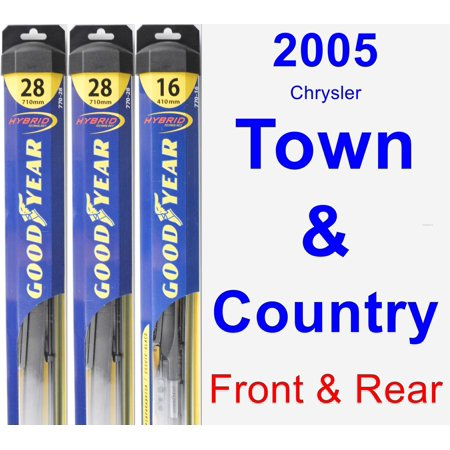 2005 Chrysler Town & Country Wiper Blade Set/Kit (Front & Rear) (3 Blades) - (Chrysler Town And Country Plug In Hybrid)